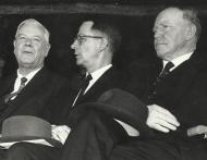 Dr HF Verwoerd, prof HB Thom en mnr JJ Serfontein, 1964 k