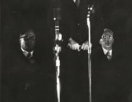 Dr PJ Meyer, dr HF Verwoerd en dr Albert Hertzog k