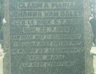 Grafsteen van CMJ van Dalen (gebore Le Roux) k
