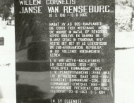 Grafsteen van WJC van Rensburg k