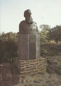 Die borsbeeld vorm deel van die uitstalling by Fort Schanskop