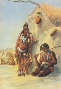 Tapinyoka die Damara-mondboogspeler is in 1861 in waterverf deur Thomas Baines, Britse kunstenaar en ontdekkingsreisiger, in Namibië geskilder.