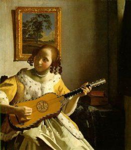 Die Kitaarspeelster, 1670, deur Johannes Vermeer (1632-1675)